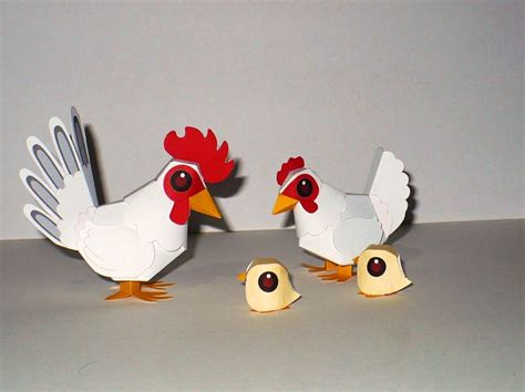 Chicken Papercraft - best photos of papercraft chicken template minecraft