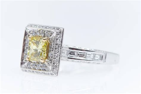 relaxshacks com a 1 00 quot fancy quot stained glass dinner gia 1 08 carat fancy vivid yellow square radiant diamond