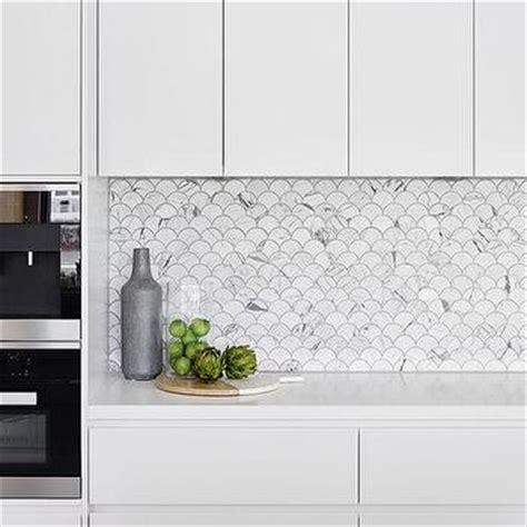 shaped tile backsplash marble fan shaped fish scale tile backsplash