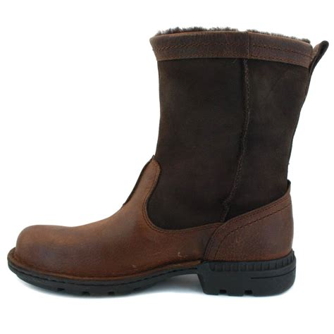 ugg shoes for ugg australia hartsville mens sheepskin boots chocolate ebay