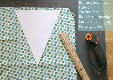 how to make a fabric bunting glorious treats