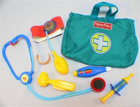Fisher Price Kit Set fisher price preschool doctor bag kit stethoscope bandaid blood pressure dragonfly whispers