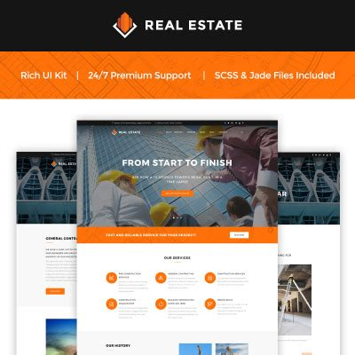 Architecture Templates Real Estate Company Website Template