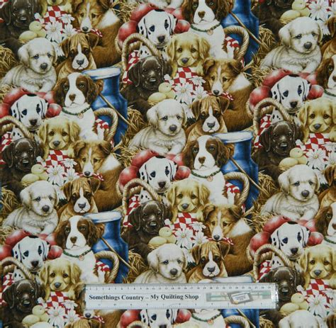 Patchwork Quilts Lots Of Them - patchwork quilting fabric lots of dogs material sewing