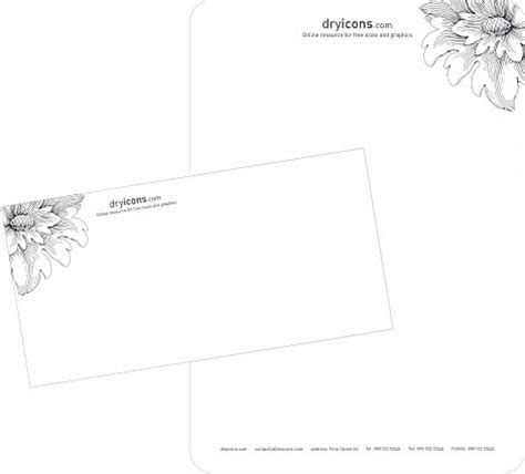envelope pattern vector stylish letterhead and envelope template vector free