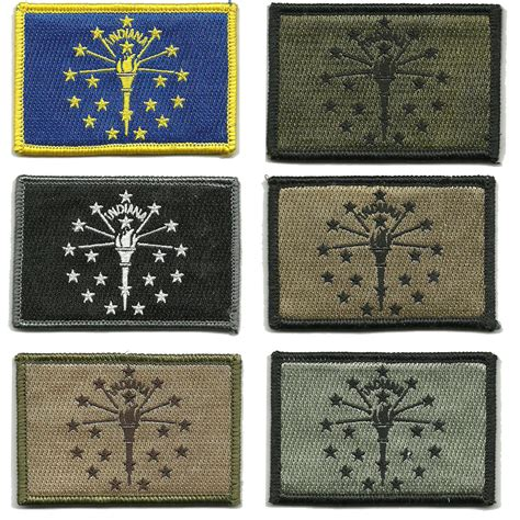 state tactical patches 2x3 indiana state tactical patches