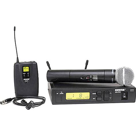 Mic Shure Ulx 4nkoper Alumenium Wireless shure ulx standard series wireless combo ulxs124 85 j1 b h