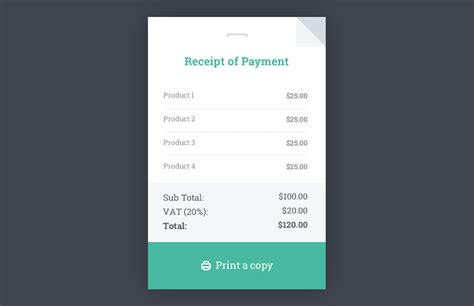Receipt Html Template Medialoot Receipt Design Template