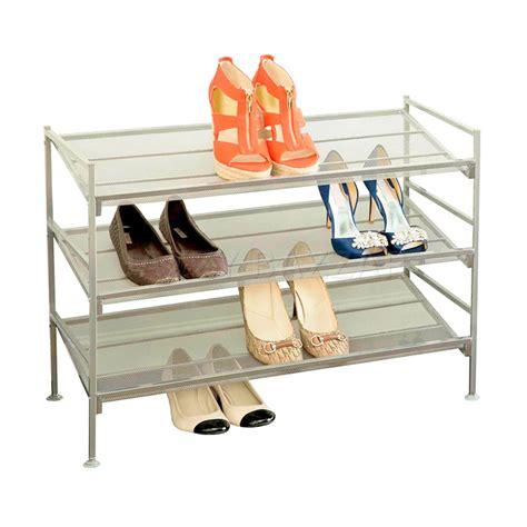 seville classics 3 tier multi purpose storage and shoe rack 3 tier stackable storage metal shoe rack multi tier iron