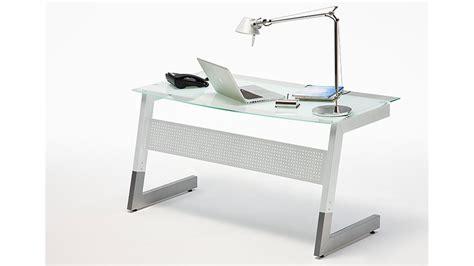 Schreibtisch Roby Glas Metall Wei 223 150x80