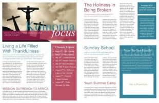 free christian newsletter templates the power of a printable newsletter template sharefaith