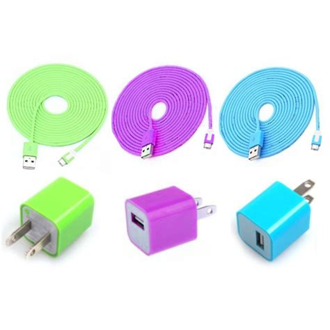 iphone charger colors total 6pcs lot colorful 3pcs usb data sync charging cable