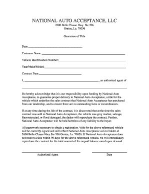 Letter Of Guarantee Title