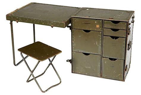 1960s us army field desk stool