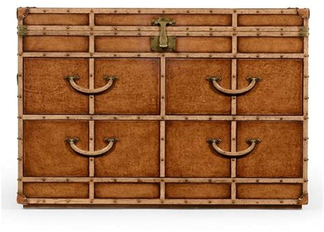 Leather Trunk Chest Of Drawers by Jonathan Charles Chest Of Drawers Leather Oak Voyager