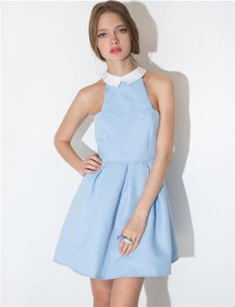 light blue collared dress blue collared dress oasis fashion