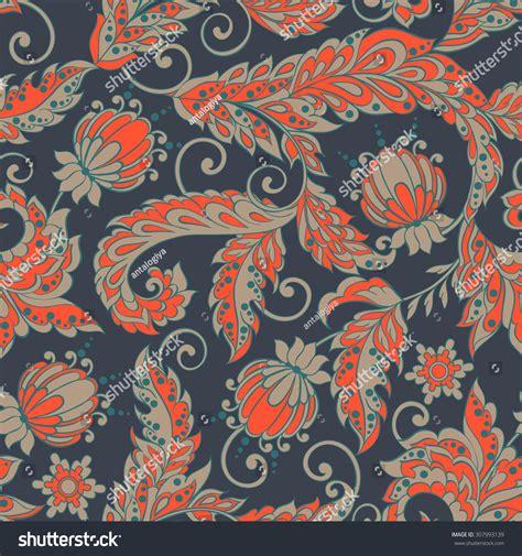 floral pattern batik vintage floral seamless pattern in batik style stock