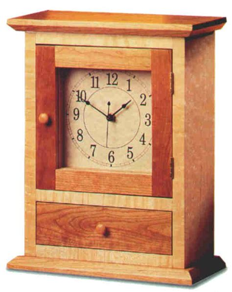 shaker clock plans  barley harvest woodworking