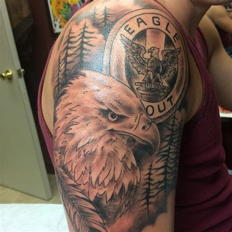 eagle quarter sleeve tattoo 35 eagle tattoo designs tattoo designs design trends