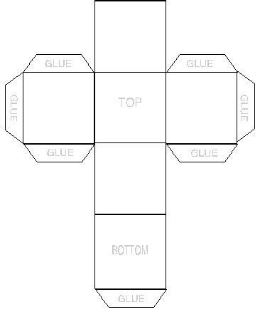 6 sided box template item canvas boxes a possibly changing type of