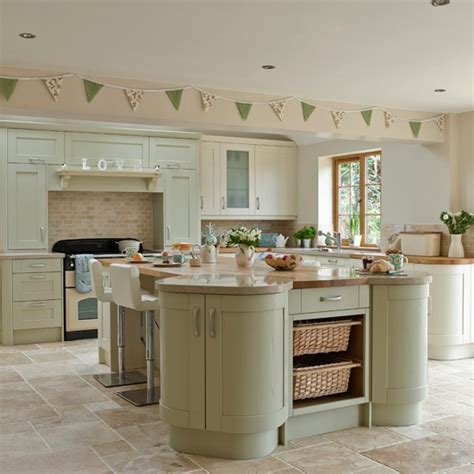 green and cream kitchen sage and cream shaker style kitchen kitchen decorating