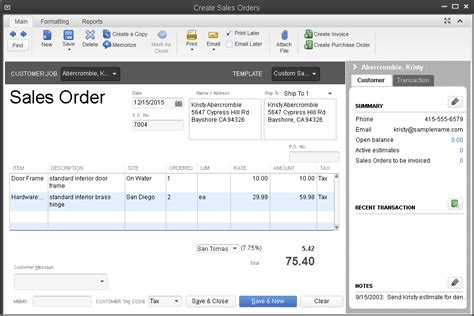 quickbooks sales order template inventory management system quickbooks desktop enterprise