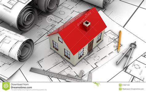 house drawing tool house plan stock illustration image 51967129