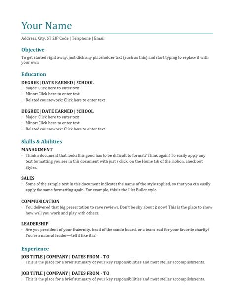 Blank Resume Template by Best Blank Resume Templates Free Best Resume