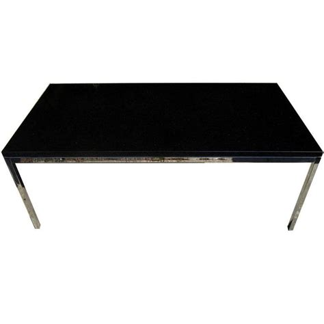 vintage knoll coffee table with chrome base and granite