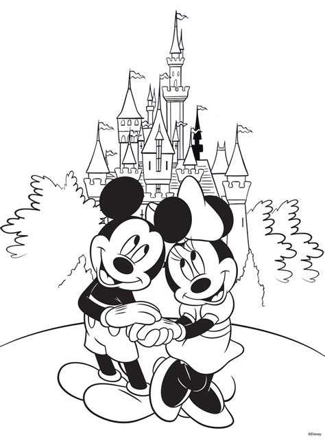 mickey mouse wedding coloring page free disney coloring pages ausmalbilder disney