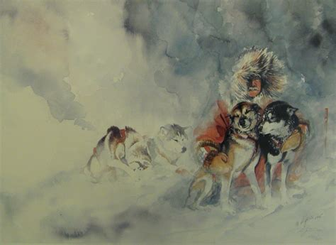 how to sled dogs sled painting in healy alaska alvinalexander