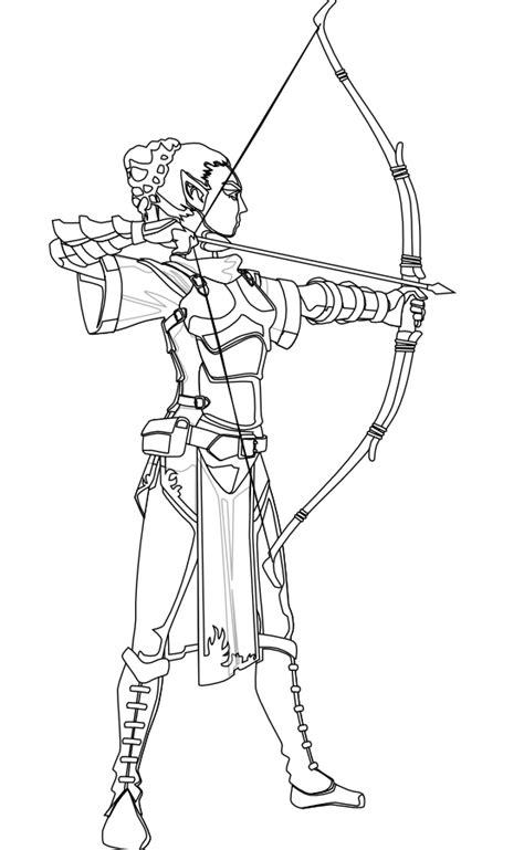 elf archer coloring pages archer coloring download archer coloring