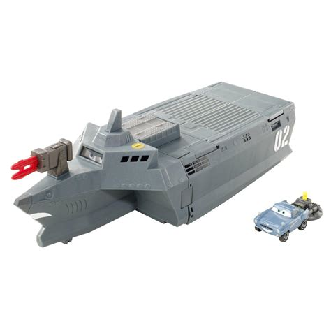 toy boat news new disney cars 2 action agents battle station ship