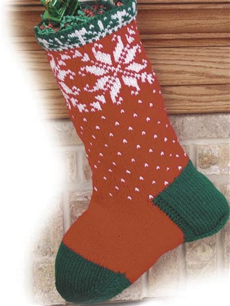 free knitting pattern for large christmas stocking free christmas knitting patterns christmas snowflakes