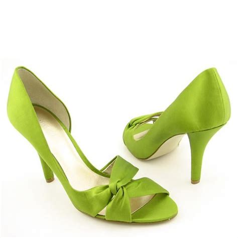 apple green shoes pink and green shoes heels fs heel