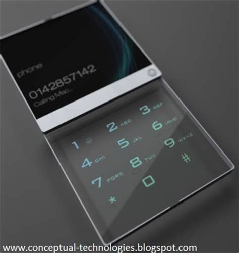 Conceptual Technologies: Glass cell phone ? an amazing concept!
