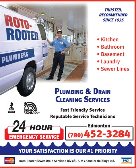 Roto Rooter Plumbing Drain Service by Roto Rooter Sewer Drain Service Edmonton Ab 12609 127