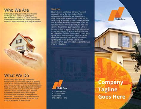 Real Estate Tri Fold Brochure Template On Vectogravic Design Real Estate Tri Fold Brochure Template