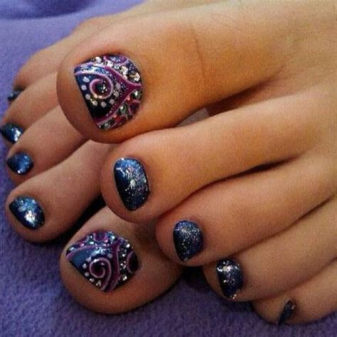 swirl pattern nail art pedicures just got better with these 50 cute toe nail designs