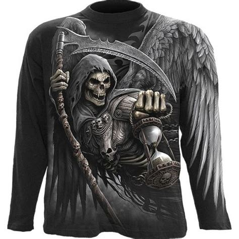 gothic t shirt prints death angel men s long sleeve shirt by spiral direct