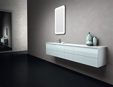 Designer Bathroom Vanities Infinity In1 Modular Italian Designer Bathroom Vanity In Blue Glass