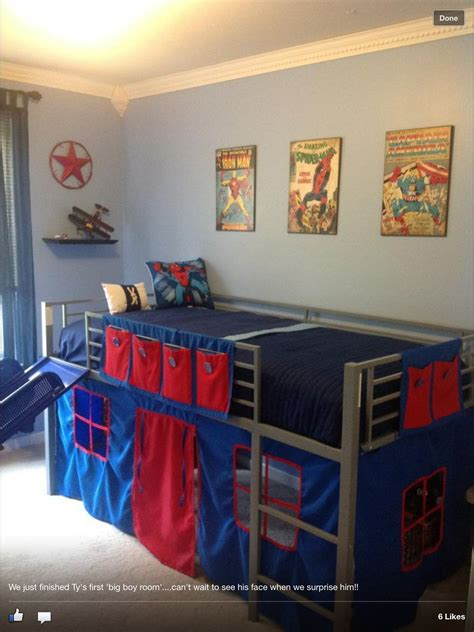 boys super hero loft bedroom junior fantasy loft bed