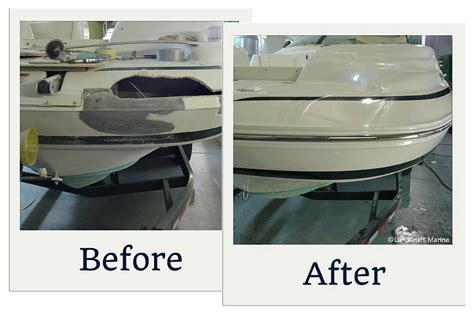 fiberglass boat repair chicago chicago boat repair services at landcraft marine