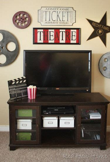 movie theater themed home decor a movie theatre inspired room by red hen home home
