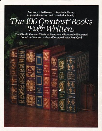 the 100 greatest novels 1980 the easton press vintage ad quot 100 greatest books quot