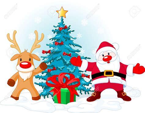 santa claus and the trees santa claus and trees happy holidays