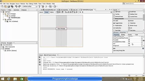 swing in java tutorial in netbeans creating first java swing gui application with netbeans