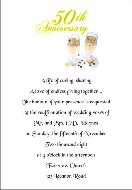 50th anniversary invitation wording wedding invitation wording wedding invitation wording