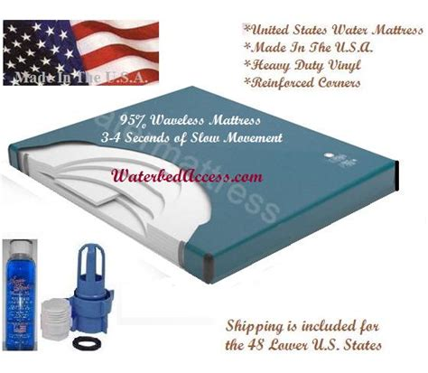 King Size Waterbed Mattress Waveless California King 6000l 95 Percent Waveless Waterbed Mattress