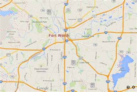 fort worth map map of fort worth world easy guides